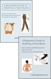 Covers for dress block and pant block tutorials
