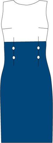 high waisted sheath dress