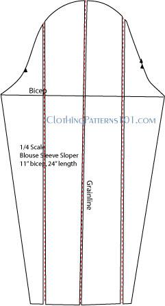 sleeve draft for bishop sleeve