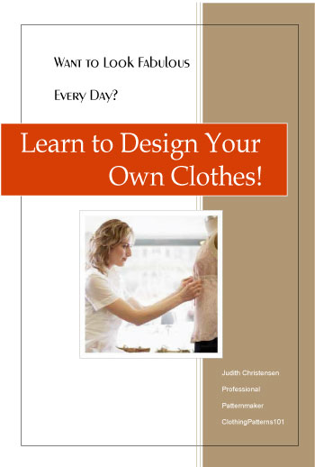 cover for ebook, Learn to Design Your Own Clothes