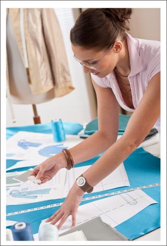 clothing designer at home