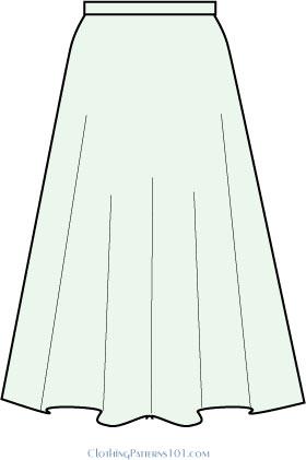 sketch of full skirt