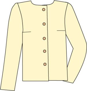 sketch of basic blouse