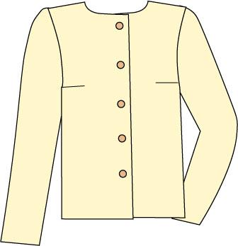 sketch of basic blouse