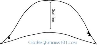 final pattern of cap sleeve