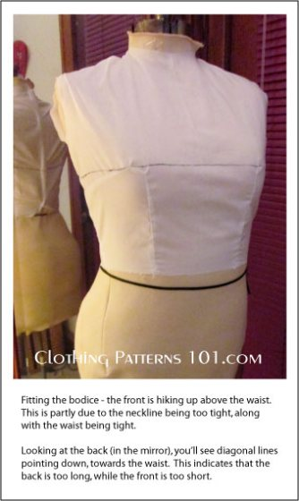 fitting the bodice front view