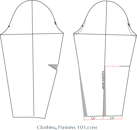 drafting the blouse sleeve