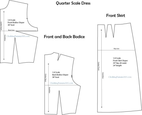 quarter-scale dress block