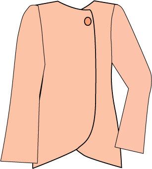 wrap jacket with bell sleeve