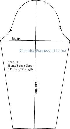 blouse sleeve pattern