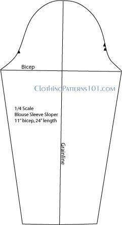 blouse sleeve pattern