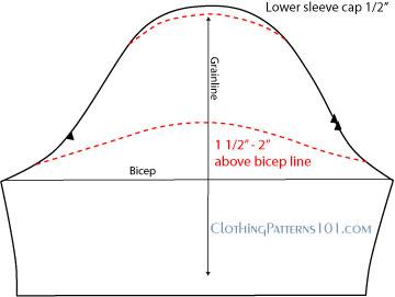 cap sleeve pattern draft