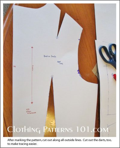 back bodice pattern block