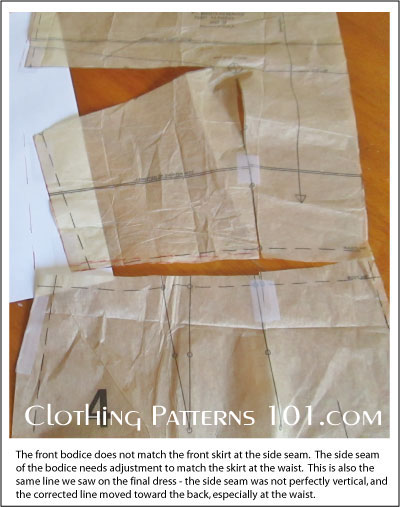 uneven width of tissue patterns