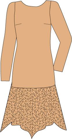 drop waist dress with handkerchief skirt