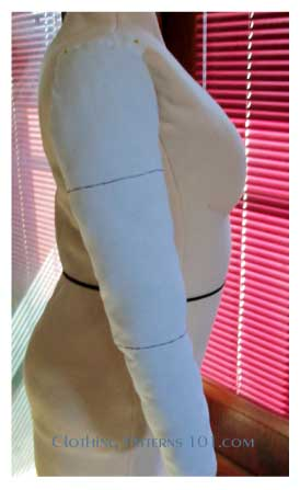 body form with padded arm