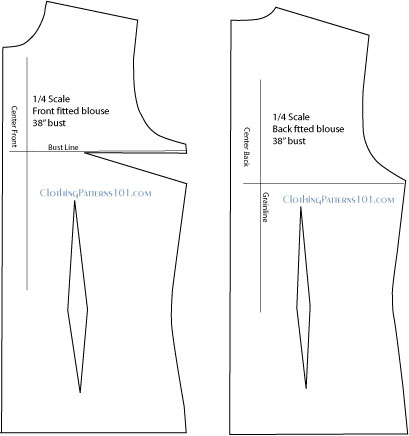 fitted blouse final pattern