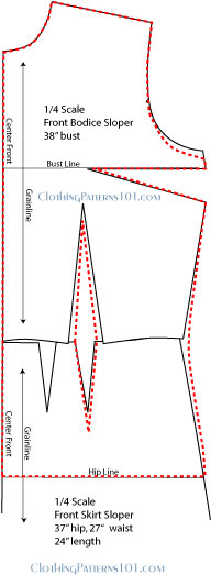 shirt blouse patterns blocks