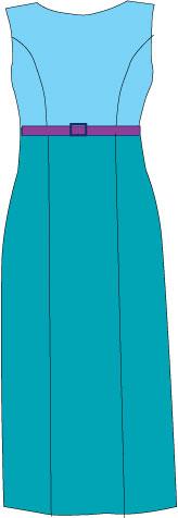 high waist dress with princess seams