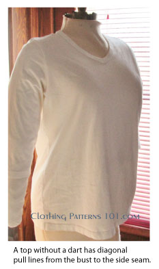 knit top without bust dart