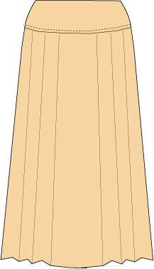 pleated skirt with yoke