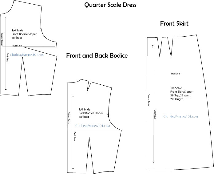 Quarter Scale Patterns Design
