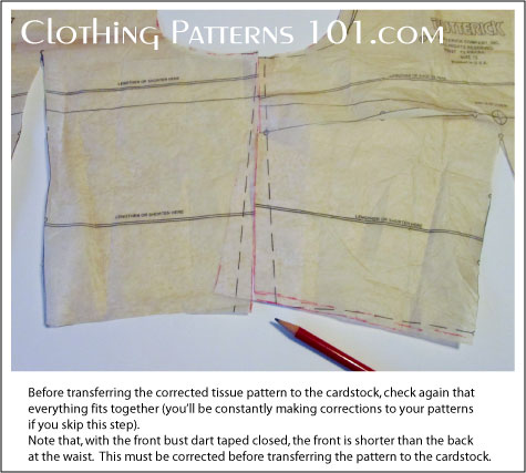 uneven side seams on tissue pattern