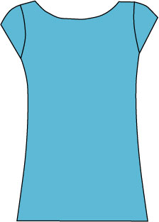 sketch of cap sleeve top