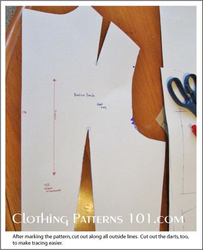 back bodice pattern block