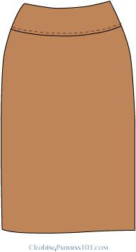 skirt with yoke seam at waist