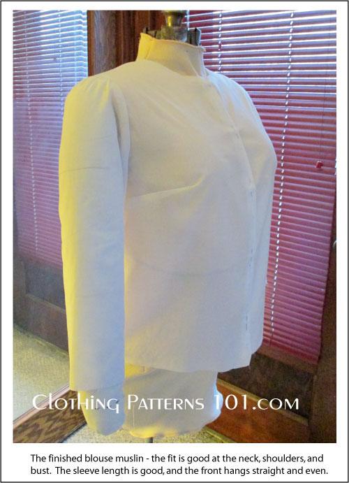finished blouse sample