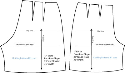 final pattern for flared shorts